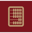 The abacus icon Finance and calculation vector image
