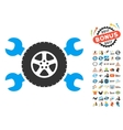 Tire Service Wrenches Icon With 2017 Year Bonus vector image vector image
