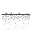 underground ground cross section vector image