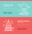 usa banner templates vector image vector image