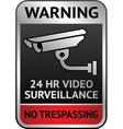 Video surveillance label vector image vector image
