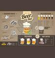 Vintage beer menu design on cardboard