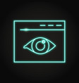 web visibility icon in neon line style vector image