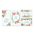 wedding card with roses weddings floral vector image vector image