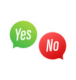 yes no word text on talk shape stock vector image vector image