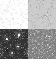 Set of seamless dandelion textures vector image