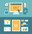 web development and digital content marketing vector image