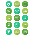 Basic soccer or football icons set in flat design vector image