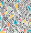 Retro 80s memphis pattern background vector image