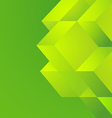 Green cube on green background vector image