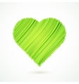 Green heart with abstract herbs texture vector image