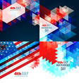 american independence day flag design vector image vector image