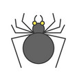 black spider halloween related icon filled vector image vector image
