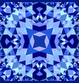 blue seamless kaleidoscope pattern background vector image vector image