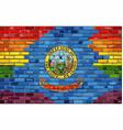 brick wall idaho and gay flags vector image vector image
