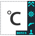 celsius icon flat vector image