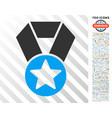 champion medal flat icon with bonus vector image vector image