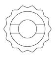 coffee shop label icon vector image vector image