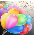 Colorful Balloons with confetti EPS 10 vector image
