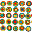 colorful concentric circles seamless background vector image vector image