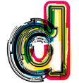 Colorful Grunge font LETTER d vector image
