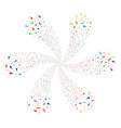 confetti stars cycle abstract flower vector image vector image