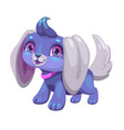 cute blue cartoon puppy vector image vector image
