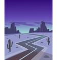 Desert Road At Night vector image
