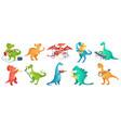 dinosaur play music tyrannosaurus rockstar play vector image