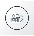 drug store icon line symbol premium quality vector image