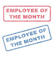employee of the month textile stamps vector image vector image