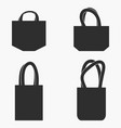 fabric bag set vector image vector image
