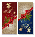 festive red and blue background cards vector image