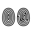 Fingerprint Icons Set on White Background vector image vector image