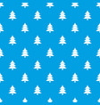fir tree pattern seamless blue vector image vector image