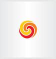 fireball circle logo symbol spiral vector image vector image