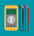 flat voltmeter icon vector image