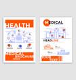 flyer design-medical flyers vector image vector image