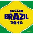 Frame flag of Brazil