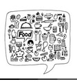 freehand drawing food icons design vector image