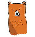 funny bear on white background vector image vector image