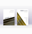 geometric cover design template set gold abstract vector image