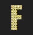 gold glitter or sequins letter - f vector image