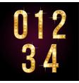 golden shining numbers vector image vector image