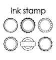 Grunge ink rubber stamp set vector image