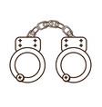 handcuffs icon image vector image vector image