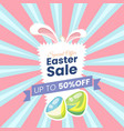 happy easter sale offer vector image