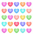 hearts shape candies cute valentine heart shapes vector image vector image
