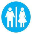 Icon toilet flat vector image vector image