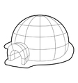 Igloo icon outline style vector image vector image